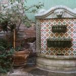 Authentic local talavera in the internal courtyard