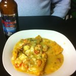 crawfish etouffee over catfish