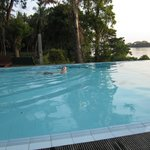 Hotel pool overlooking Tissa Lake