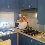 kitchenette area mobile home