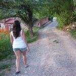 Camino a las cabañas