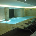 The indoor pool at the Sanctuary Spa.