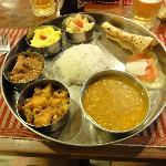 Nepali-dish made at hotel Harati