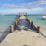 La vue de la plage losqu'on emprunte la Calle 16