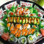 Amazing sushi platter to go