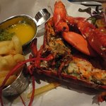 The grilled lobster