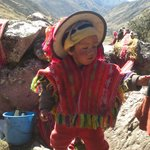 tipical andean boy you can help them