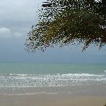 Playa en dia nublado