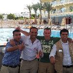 The three best barmen Said, Ali and Adel