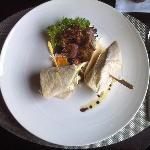 shawarma wraped in pitta bread