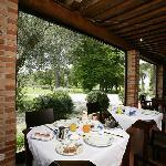 la colazione in veranda