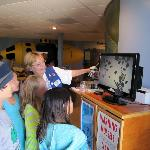 Visitors getting an eyeful of microscopic plankton