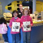 Visitors with their completed Jr. Ranger Guides - just one activity for school age children!