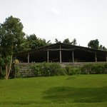 Main dining hut/lounge area