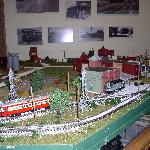 A working model train is on display for museum guests