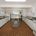 Modern communal kitchen and cooking facilities