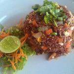 Fried Red Rice