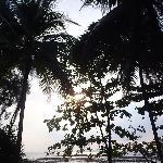 coucher de soleil depuis la villa