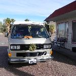 Our rented vanagon parked outside the motel