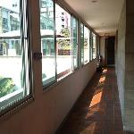 Corridors outside room