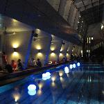 The roof top bar / swimming pool