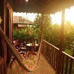 Back porch of the villa at sunrisa