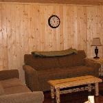 Living area of cabins