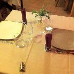 la table au restaurant très sympa