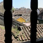 View of roofs from another window in room 206