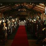 Civil Ceremony room complete with red carpet + lanterns