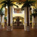 Something we hadn't seen pictures of is the beautiful fountain and lobby