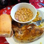 Zipper Peas & Baked Chicken