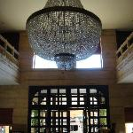 The beautiful chandelier at the lobby