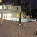 außerhalb Poolbereich (geschlossen, weil minus 20 ° C)