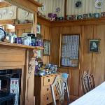 Tin collection in the dining area
