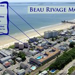 2 Beau Rivage Motel aerial shows Buildings & Pier