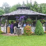 Relax in our outdoor gazebo.