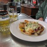 Pita Pizza and Beer