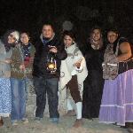 La gente que nos dio el recorrido de leyendas en Bernal