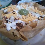 Taco Salad-they make the shells there!