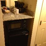 Microwave and fridge included