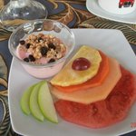 Brunch appetizer - yogurt & fruit plate