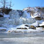 Albion Waterfalls in winter