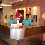 Dedicated staff for at the reception welcoming you