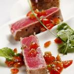 fresh tuna cooked to perfection