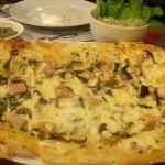 Pannizza Kristina with a bowl of arugula & alfalfa