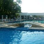 Kids pool side