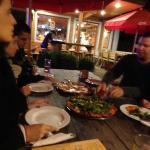 Friends at Pizza Cala