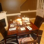 Intimate dining upstairs