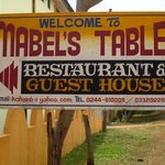 Sign outside Mabel's Table